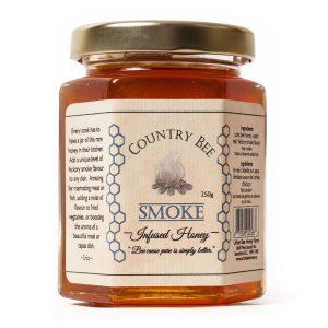 Smoke infused honey