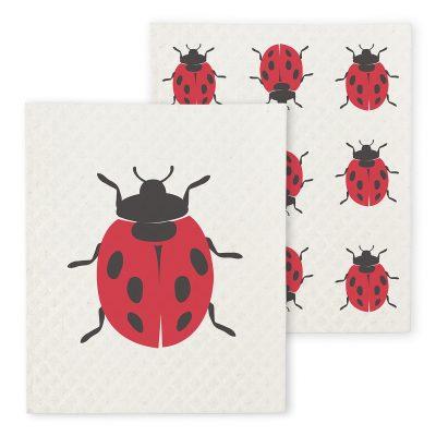 Ladybug Dishcloth Set