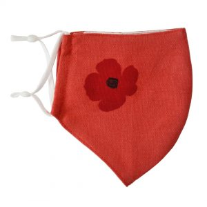 Red Poppy Face Mask