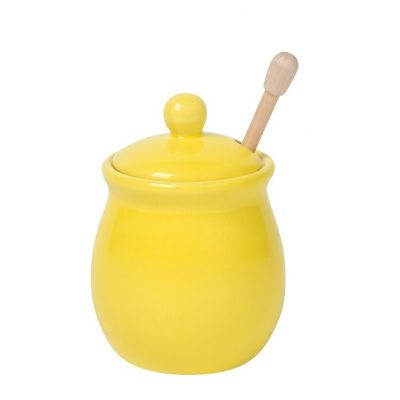 yellow honey pot