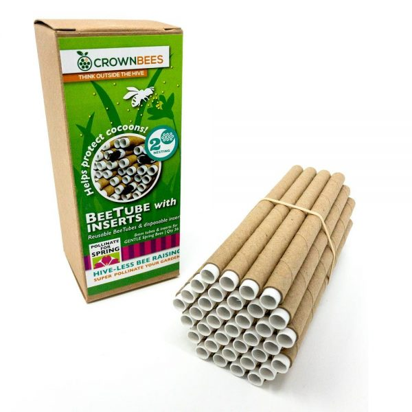 Mason Bee Tubes with packaging