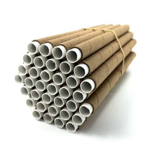 Mason Bee Tubes with paper