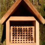 Mason Bee House With Tray front view